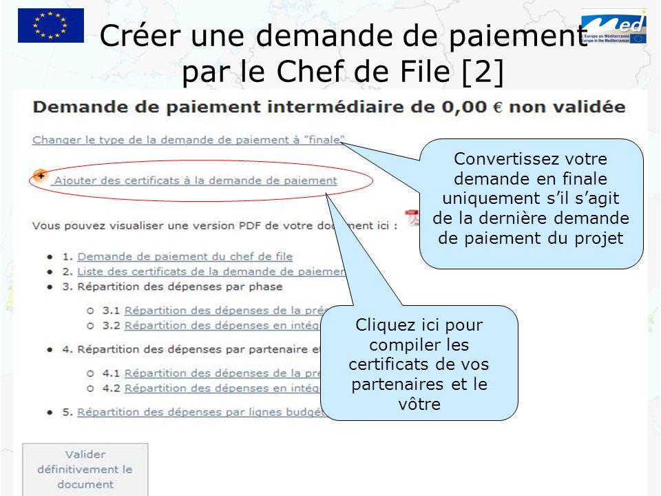 Créer une demande de paiement par le Chef de File [2]